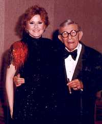 Lisa with George Burns