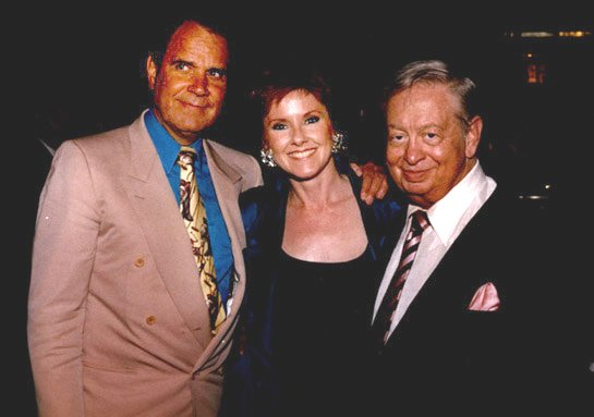 Lisa Donovan with Rich Little and Mel Torme